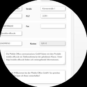 Kostentransparenz - Mobile Office Telefonservice